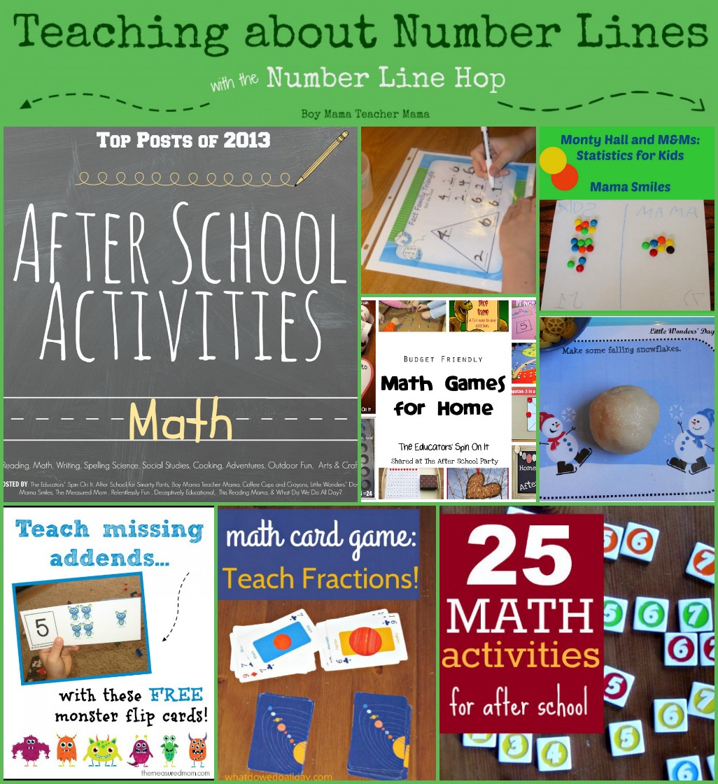 Best Math Activities for After School 2013 - Boy Mama Teacher Mama
