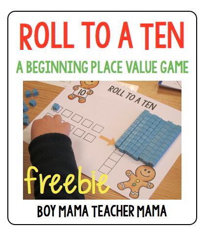 Boy Mama Teacher Mama | FREEBIE Roll to a Ten