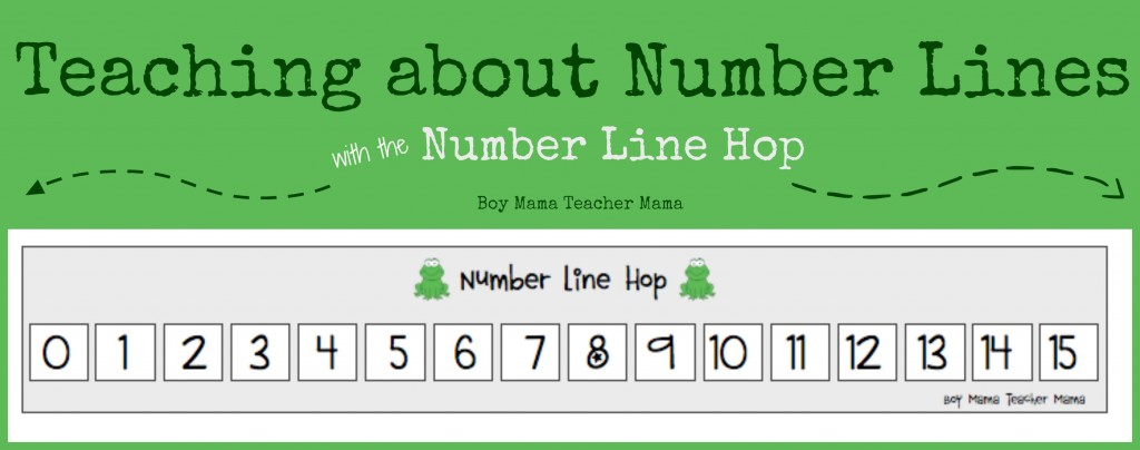 Boy Mama Teacher Mama | Teaching about Number Lines