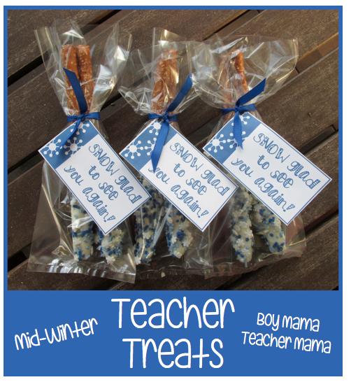 Boy Mama Teacher Mama | Mid-Winter Teacher Treats