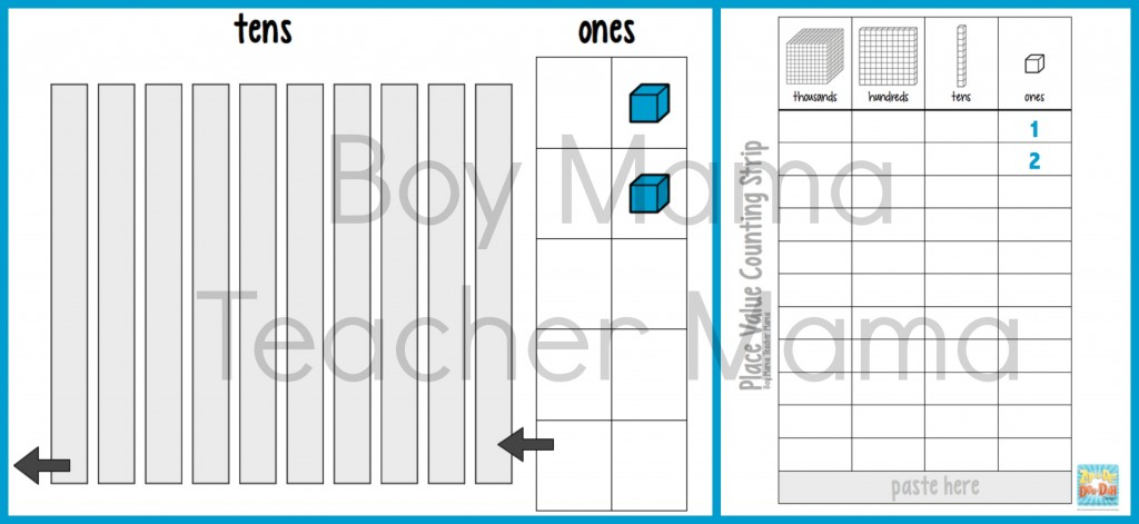 Boy Mama Teacher Mama Place Value Counting Strips