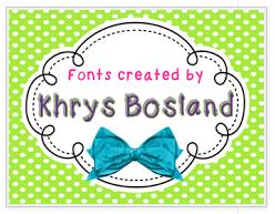 Khrys Bosland Fonts