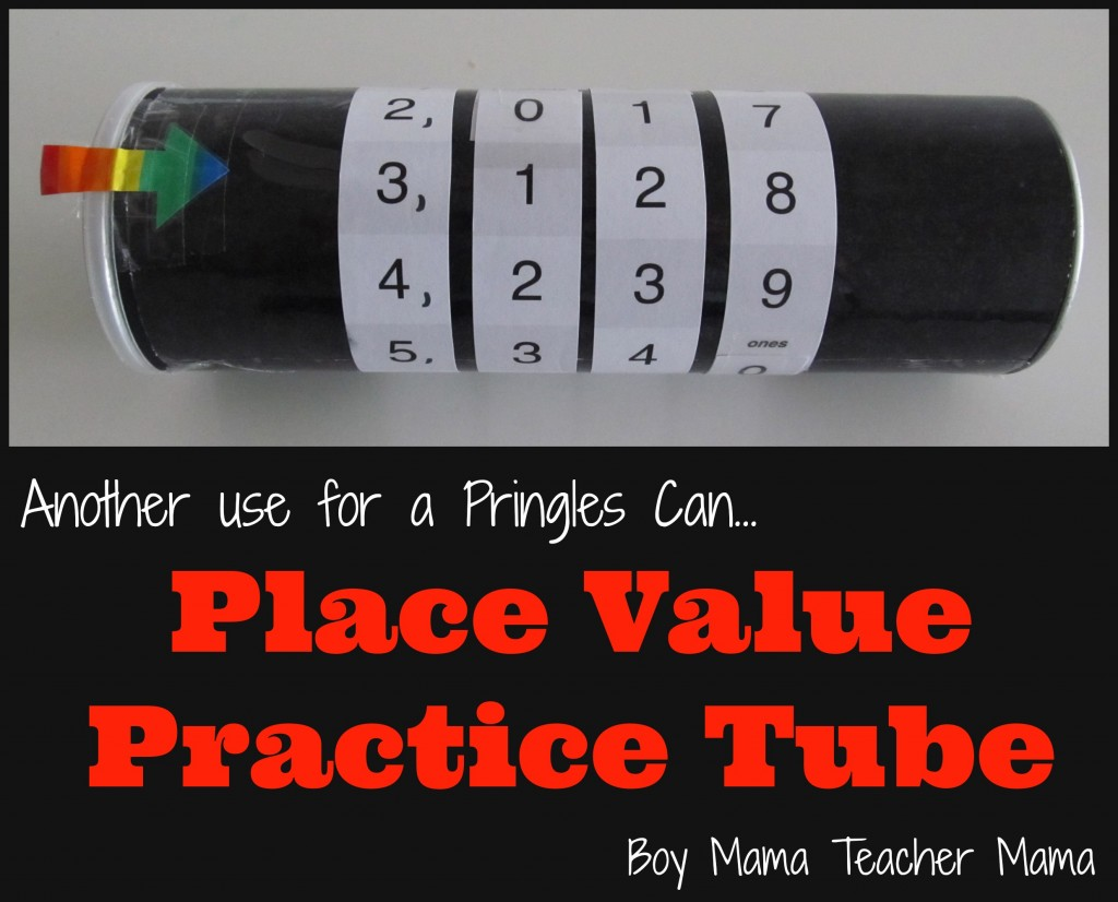 Boy Mama Teacher Mama | Place Value Practice Tube