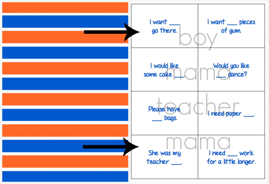 Boy Mama Teacher Mama  Practicing Homophones To, Two and Too 2