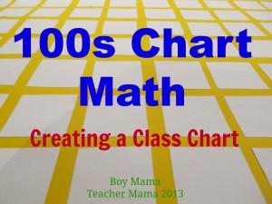 Boy Mama Teacher MAma   100s Chart