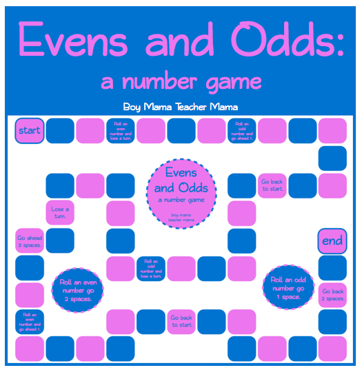 Boy Mama Teacher Mama | Evens and Odds