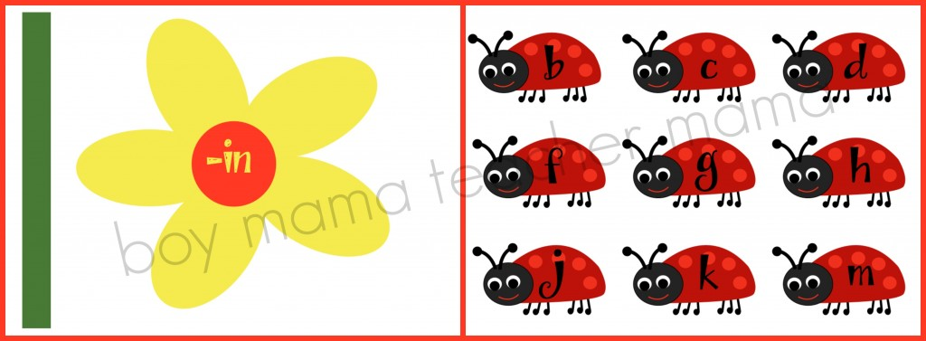 Boy Mama Teacher Mama  Spring Word Family Game.jpg