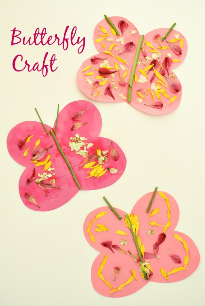 Butterfly-Craft-for-Kids...spring-art-with-fresh-flowers-686x1024