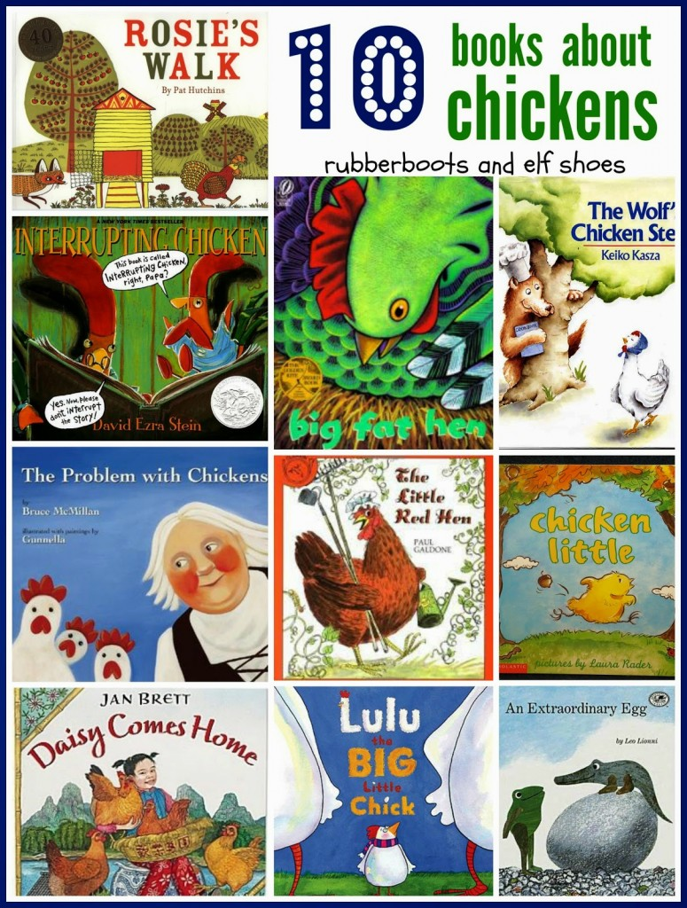 10 chicken books from rubber boots and elf shoes