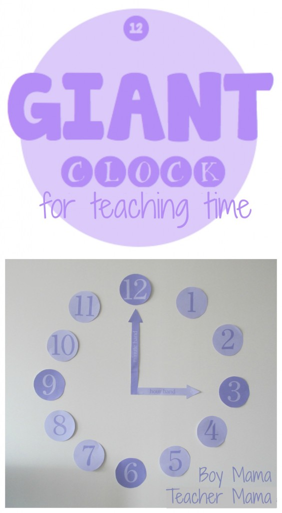 Boy Mama Teacher Mama  Giant Clock for Teaching Time.jpg