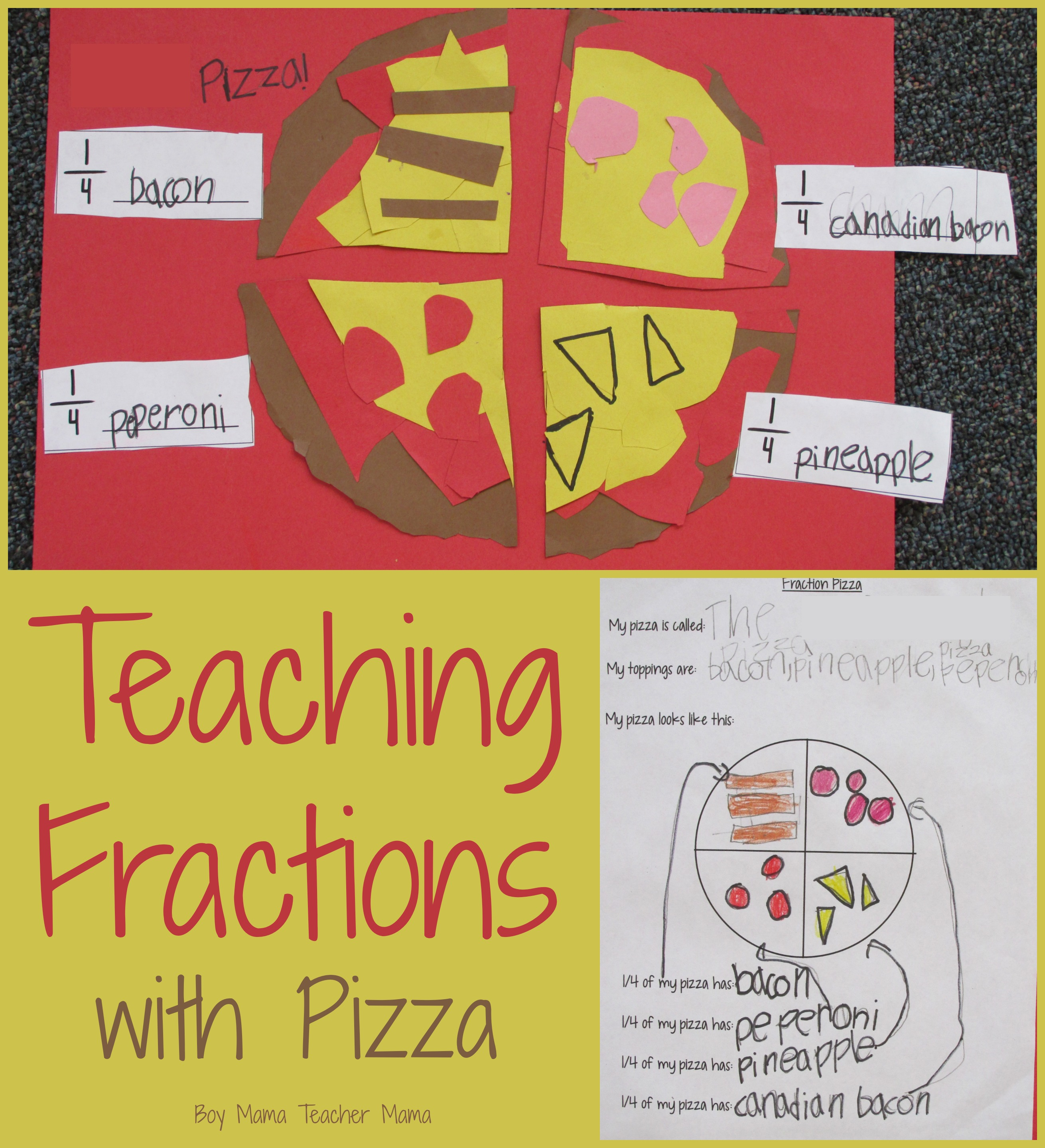Teacher Mama: Teaching Fractions with Pizza