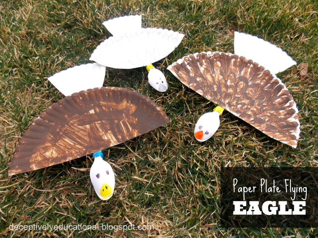 Paper Plate Flying Eagle
