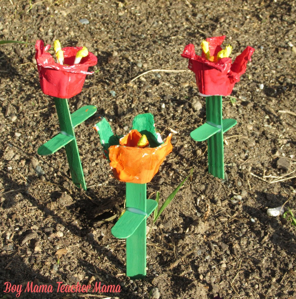 Boy Mama Teacher Mama  Egg Carton and Popsicle Stick Flowers 11.jpg