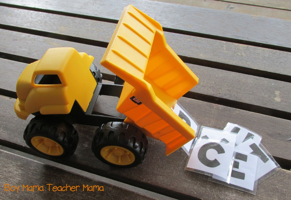 Boy Mama Teacher Mama  Dump Truck Name Spelling Game 3.jpg