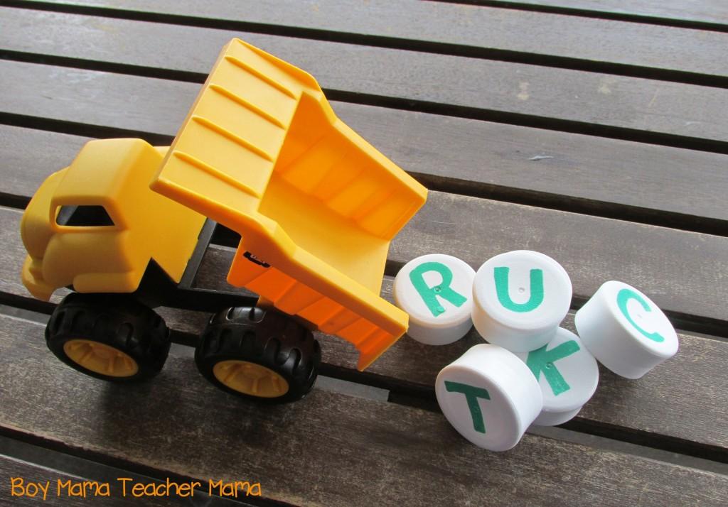 Boy Mama Teacher Mama  Dump Truck Name Spelling Game 5.jpg