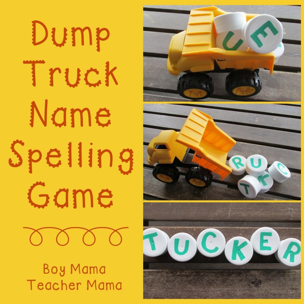 Boy Mama Teacher Mama  Dump Truck Name Spelling Game (featured).jpg