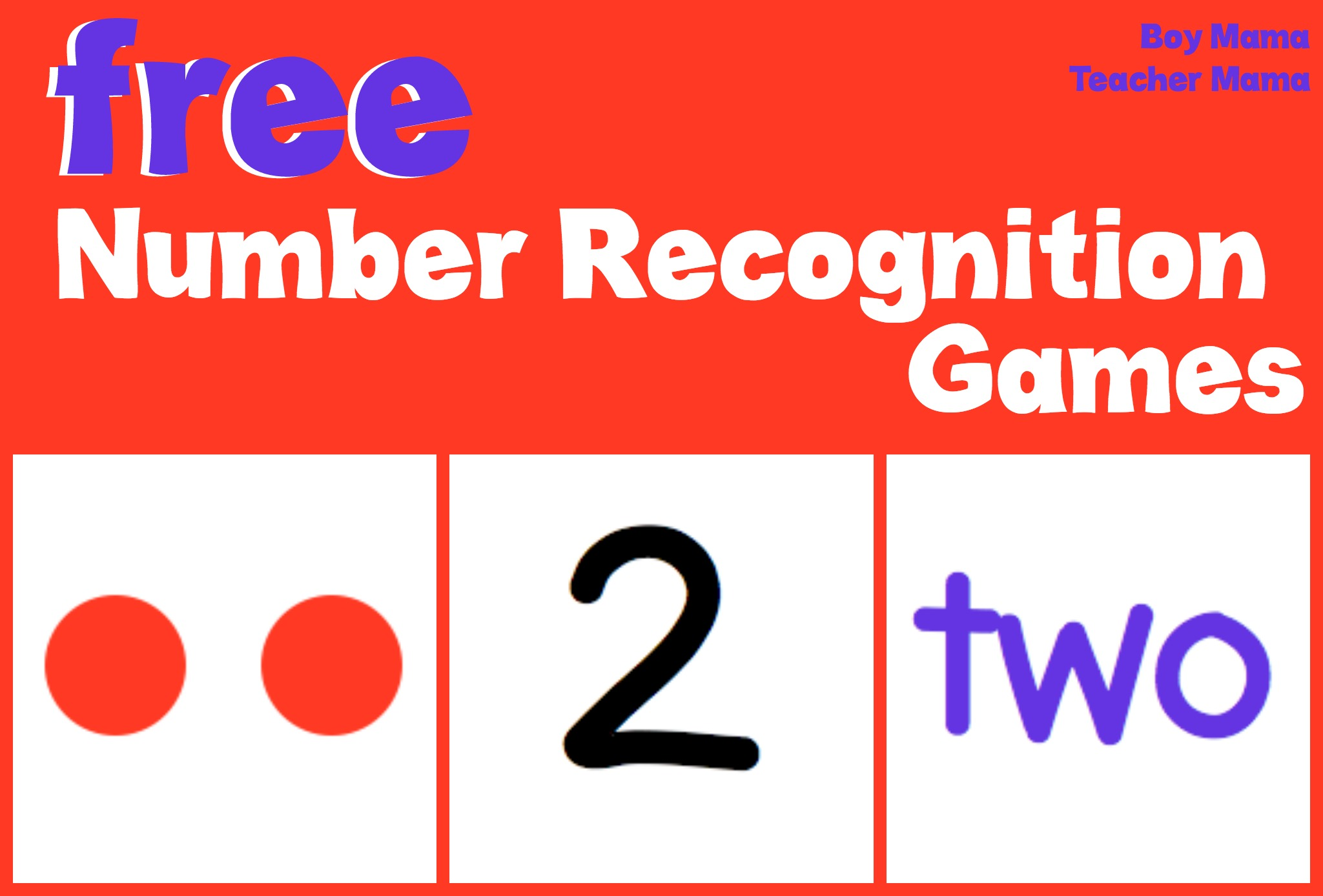 Teacher Mama Free Number Recognition Games on Recognizing Letters