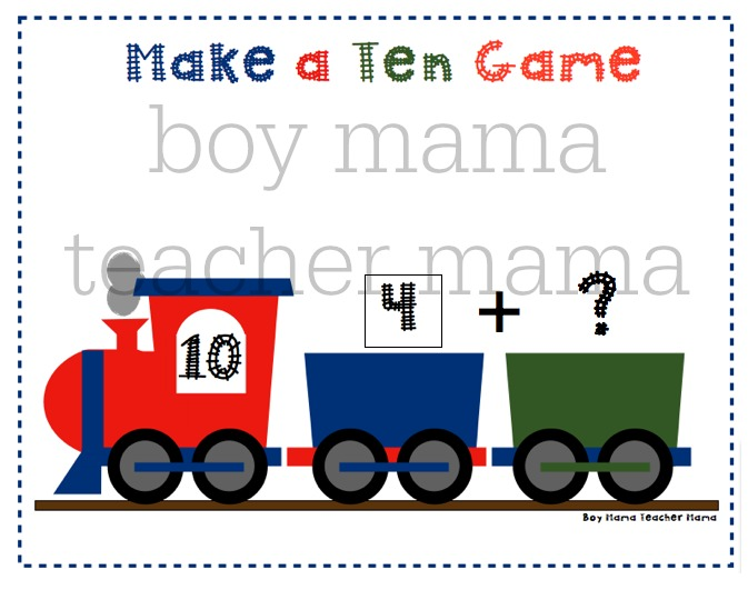 Boy Mama Teacher Mama  Make a Ten Train Game 5.jpg
