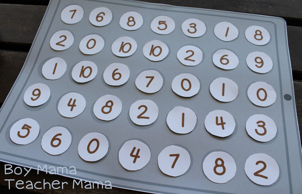 Boy Mama Teacher Mama Cookie Sheet Math Fact Game 2.jpg