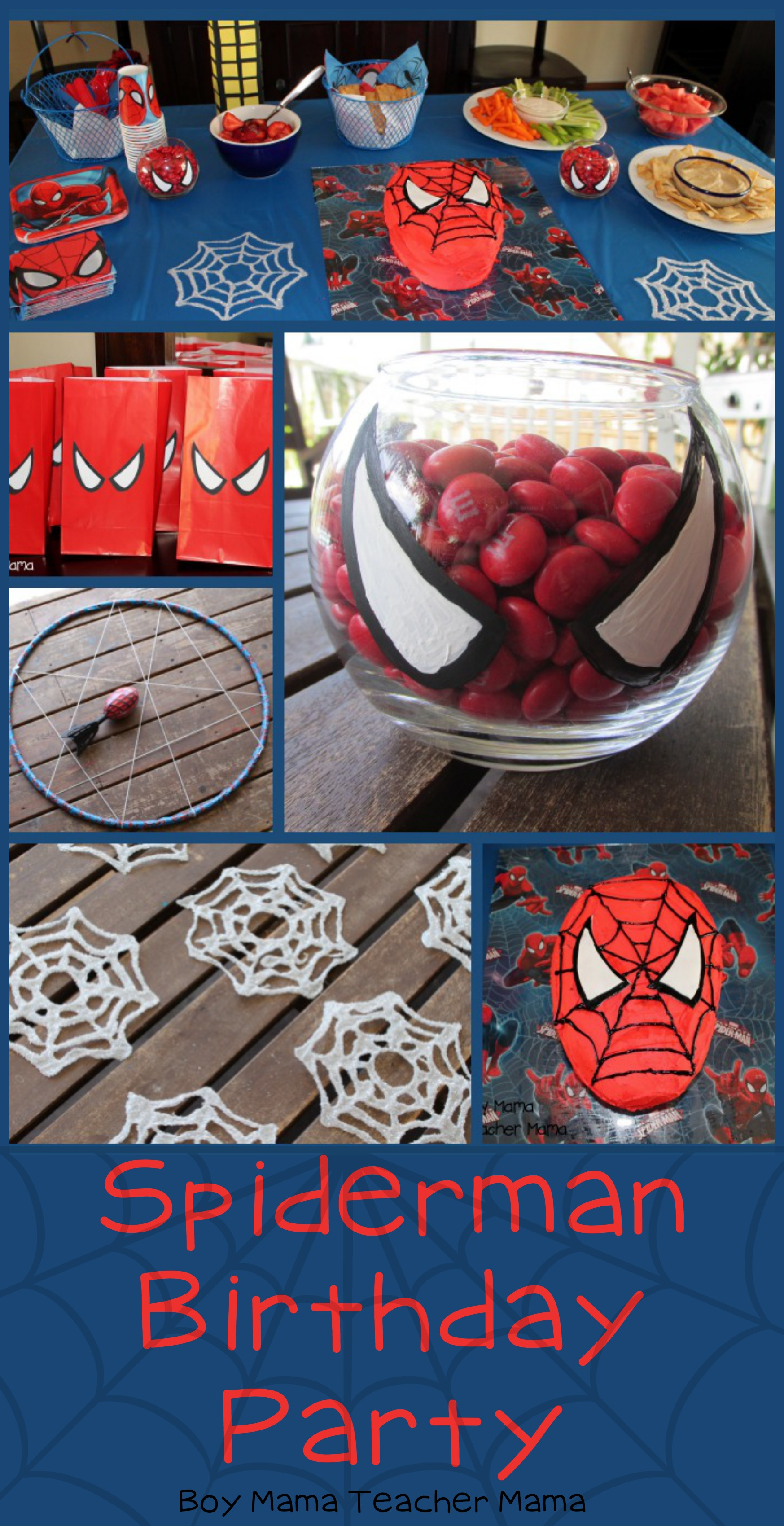Boy Mama Teacher Spiderman Birthday Party Featured