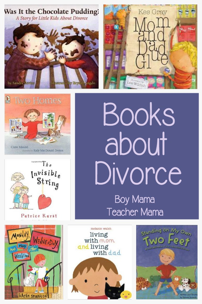 Boy Mama Teacher Mama  Books about Divorce