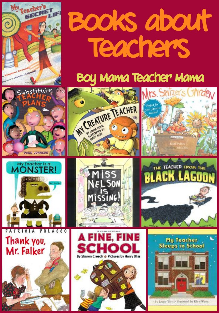 Boy Mama Teacher Mama  Books about Teachers