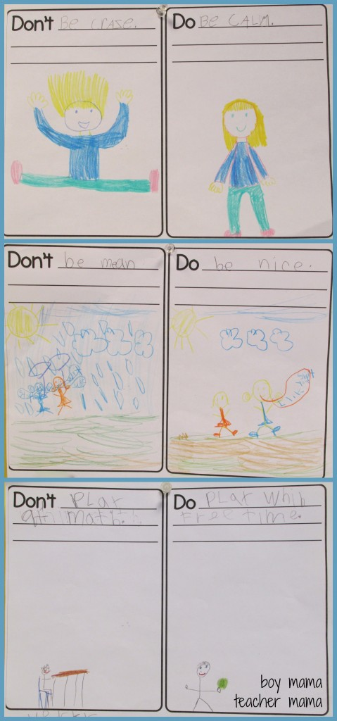 Boy Mama Teacher Mama  FREE WRiting Activity for Back-to-School Rules 2