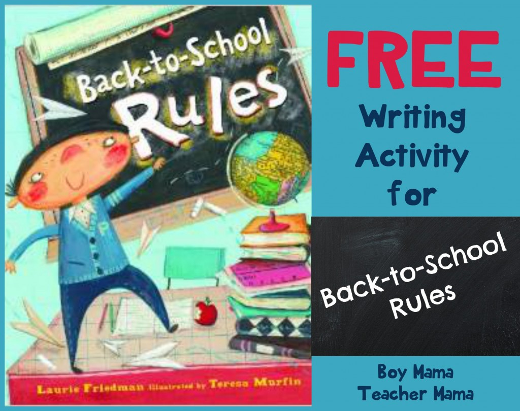 Boy Mama Teacher Mama  FREE Writing Activity for Back to School Rules 2