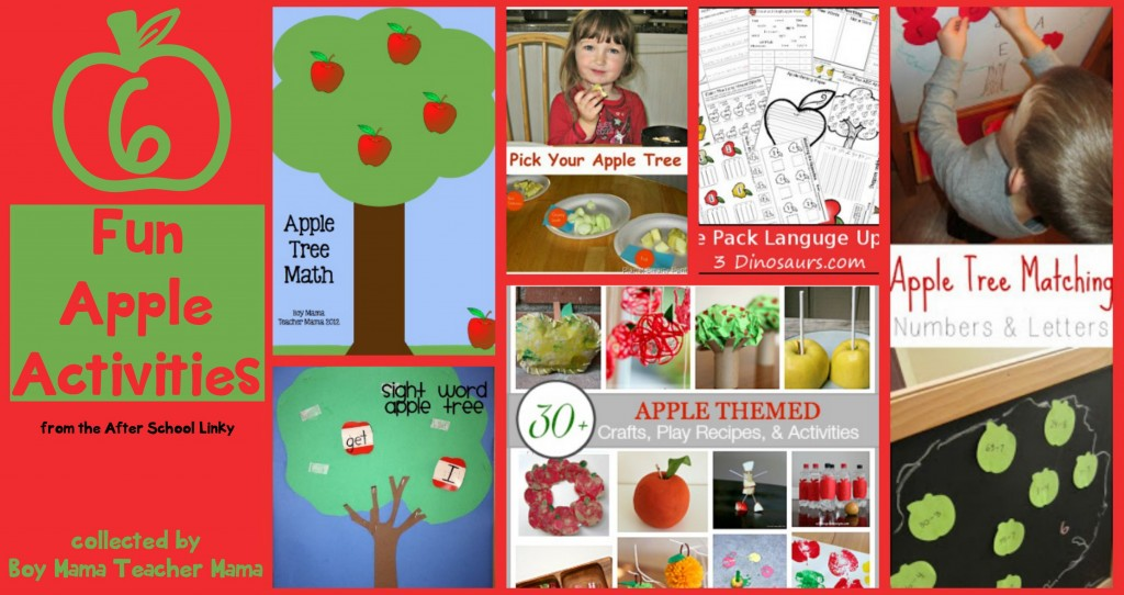 Boy Mama Teacher Mama  6 Apple Activities