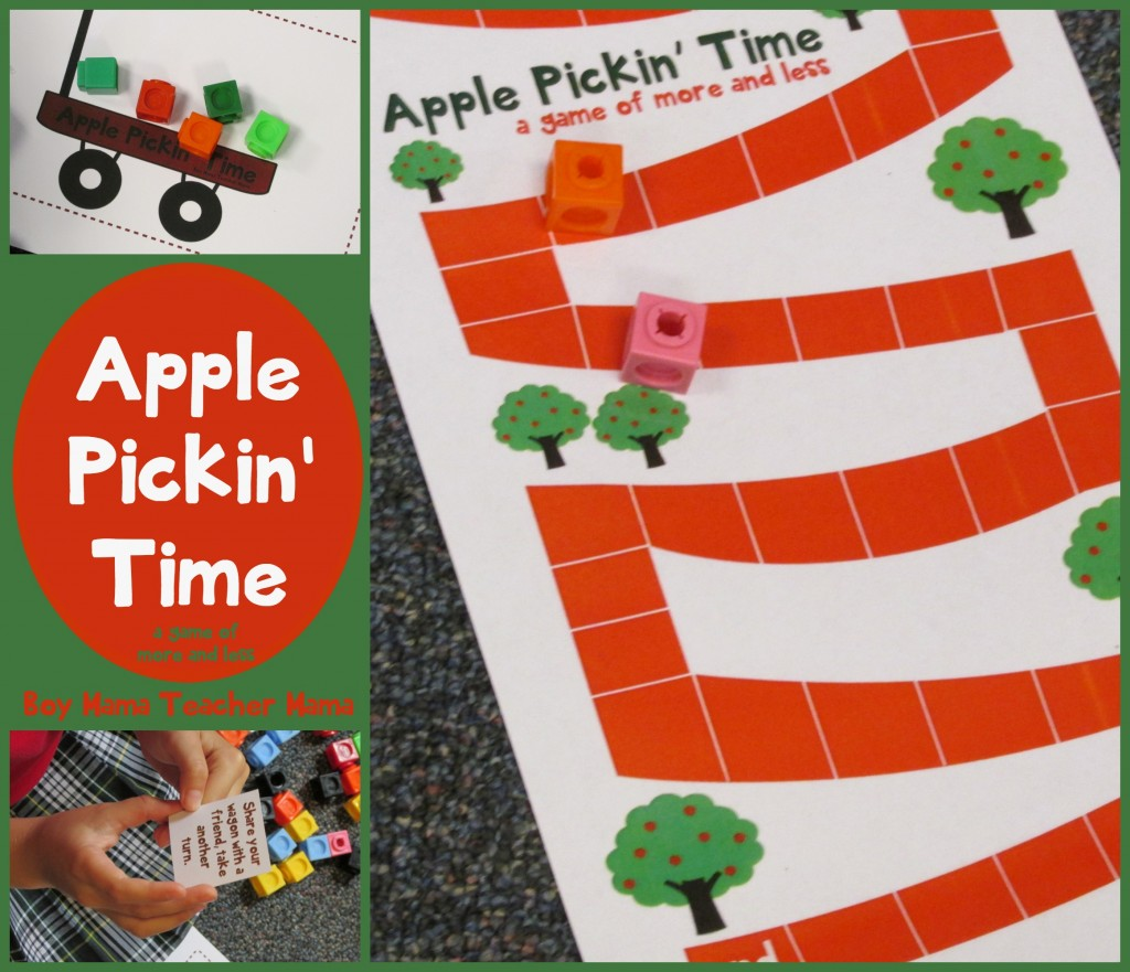 Boy Mama Teacher Mama  Apple Pickin Time Math Game