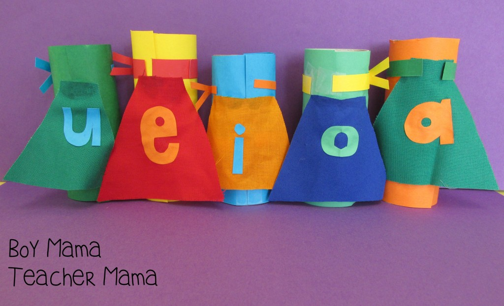Boy Mama Teacher Mama  Superhero Vowels 3
