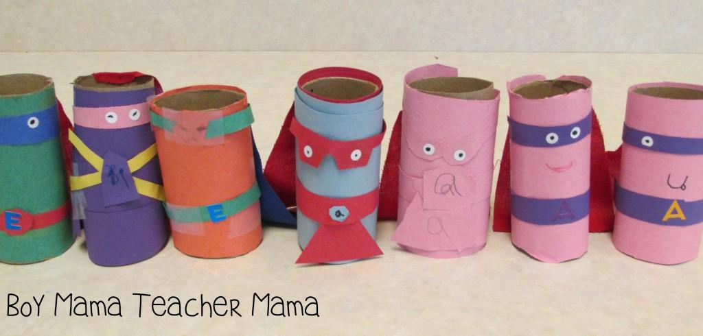 Boy Mama Teacher Mama  Superhero Vowels 5