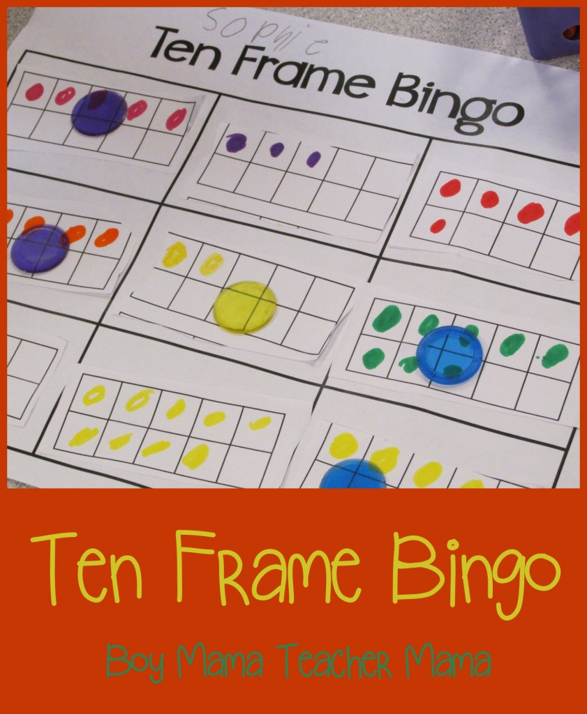 Boy Mama Teacher Mama  Ten Frame Bingo (featured)
