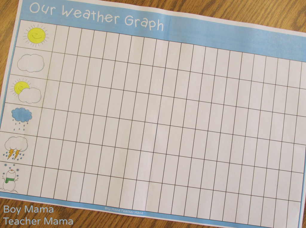 Boy Mama Teacher Mama  FREE Printable Weather Graph