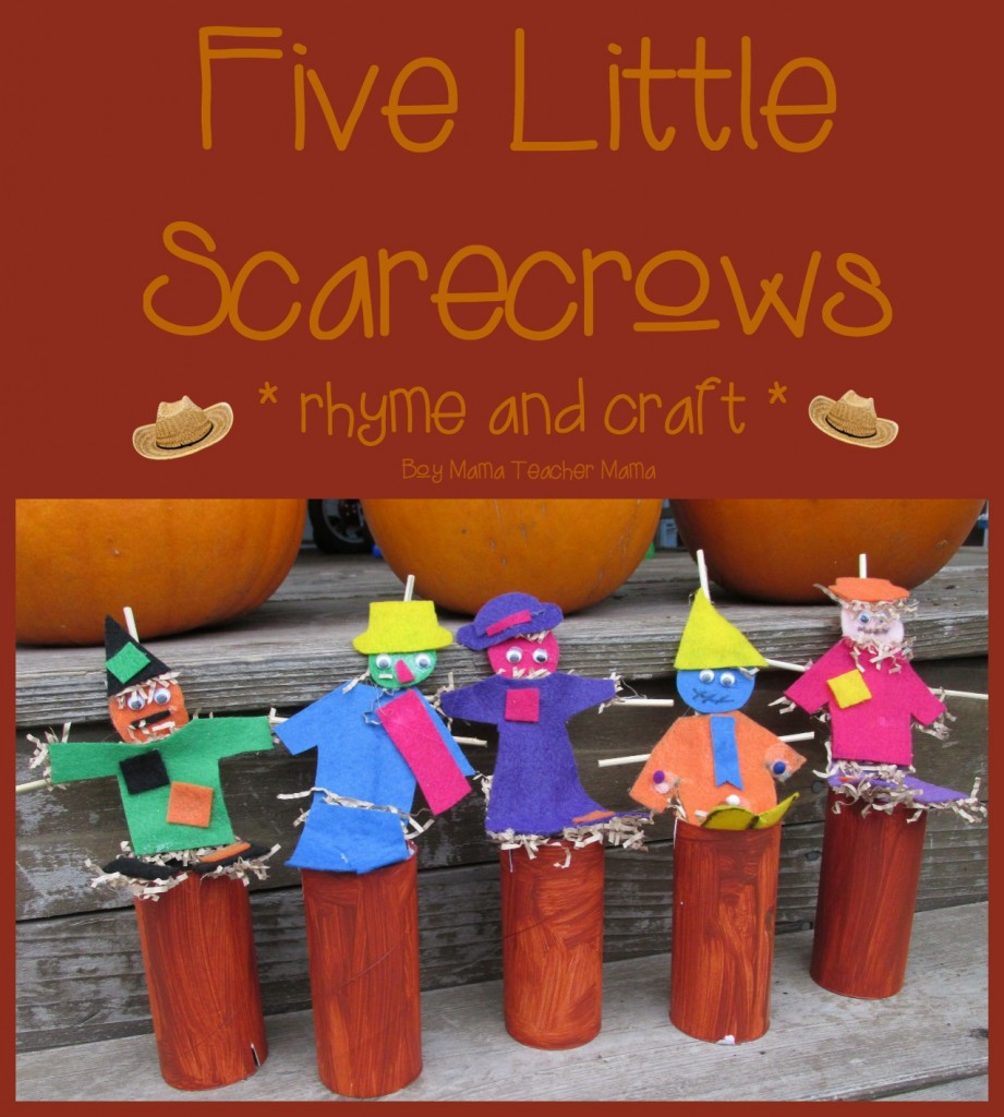 Boy Mama Teacher Mama  Five Little Scarecrows (featured)