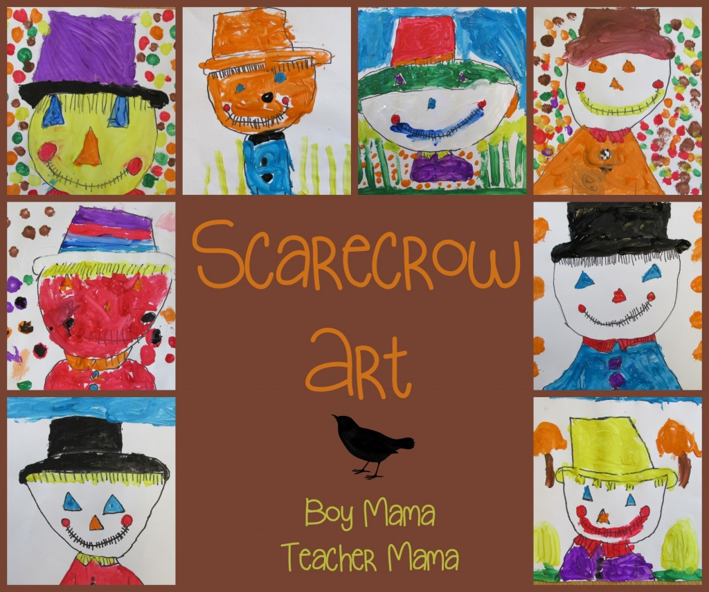 Boy Mama Teacher Mama  Scarecrow Art (featured)