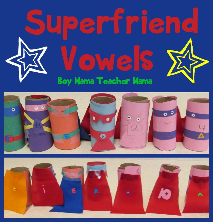 Boy Mama Teacher Mama  Superhero Vowels (featured)