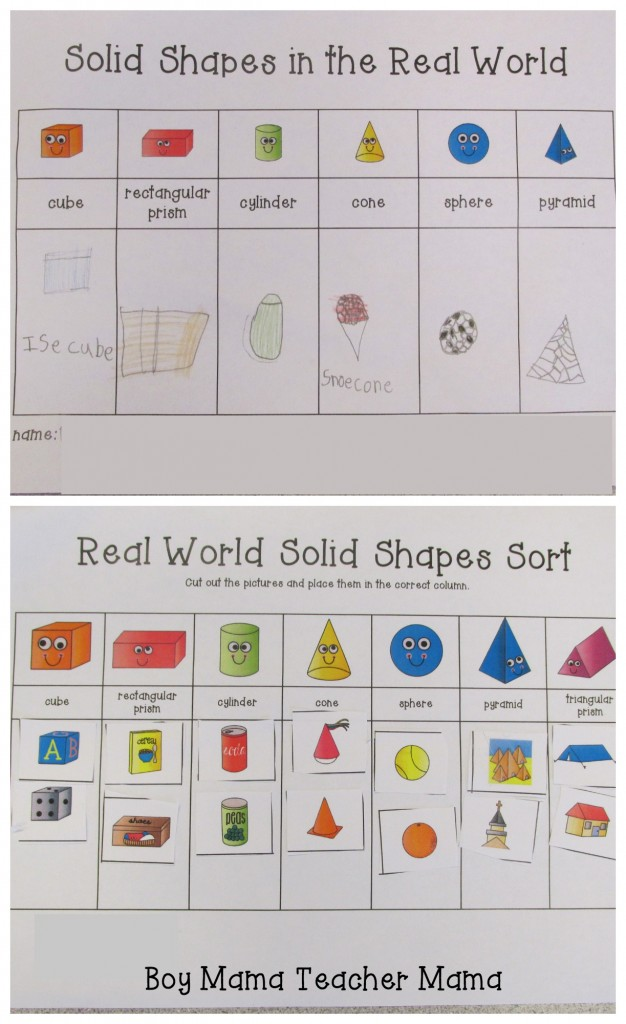 Boy Mama Teacher Mama  Activities for Teaching Solid Shapes