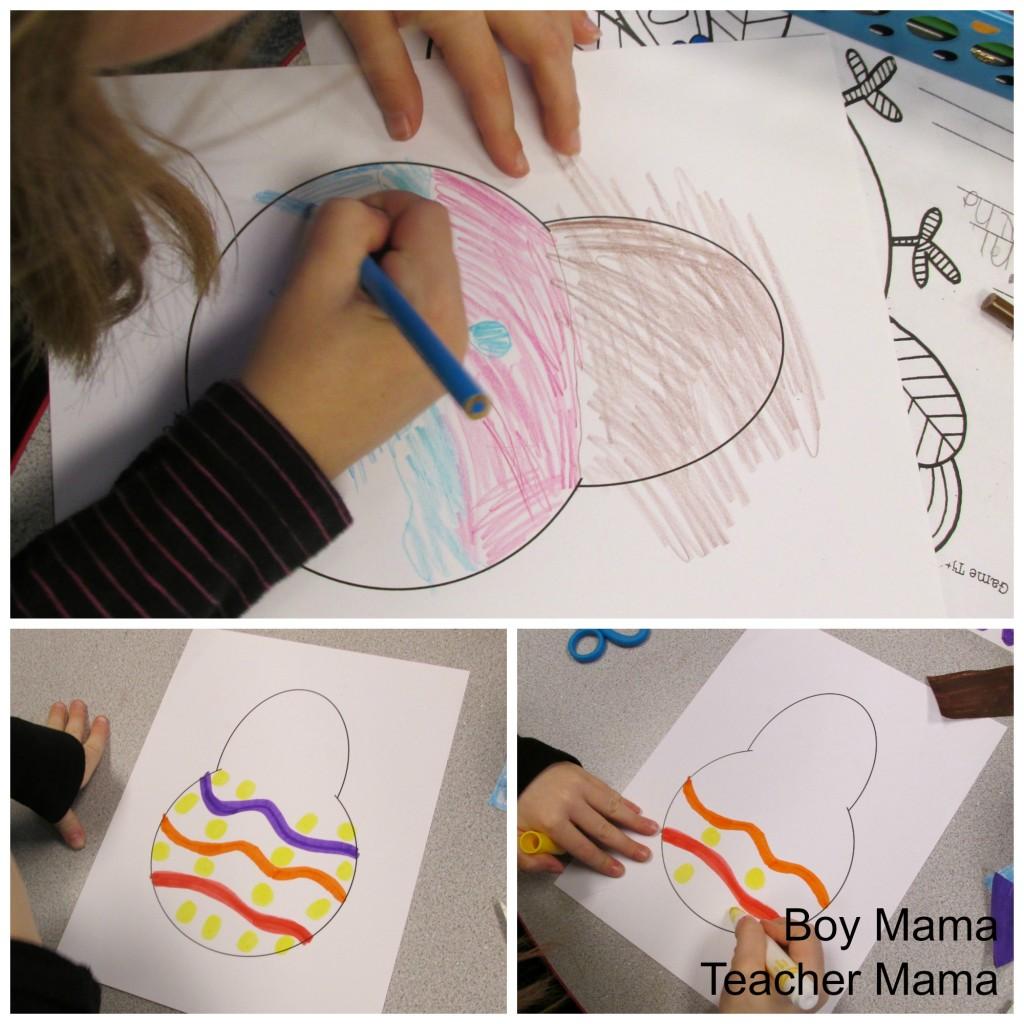 Boy Mama Teacher Mama  FREE Printable Shape Turkey 3