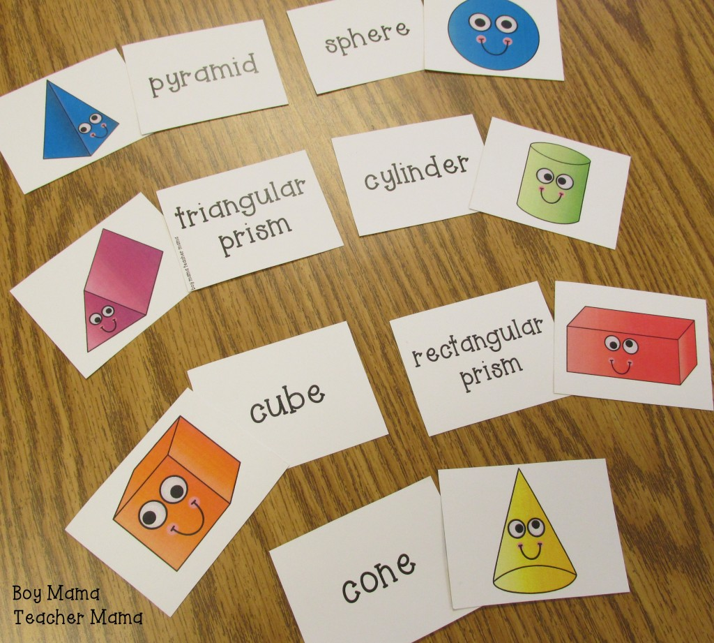 Boy Mama Teacher Mama  Solid Shape Bingo 3