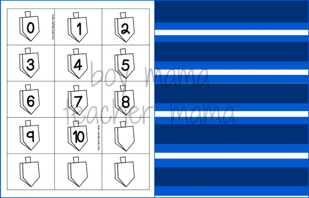 Boy Mama Teacher Mama  FREE Printable Dreidel Math Pages 2