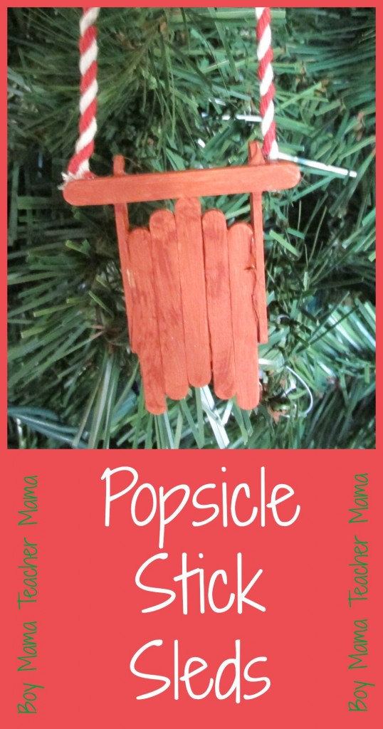 Boy Mama Teacher Mama  Popsicle Stick Sleds (featured)
