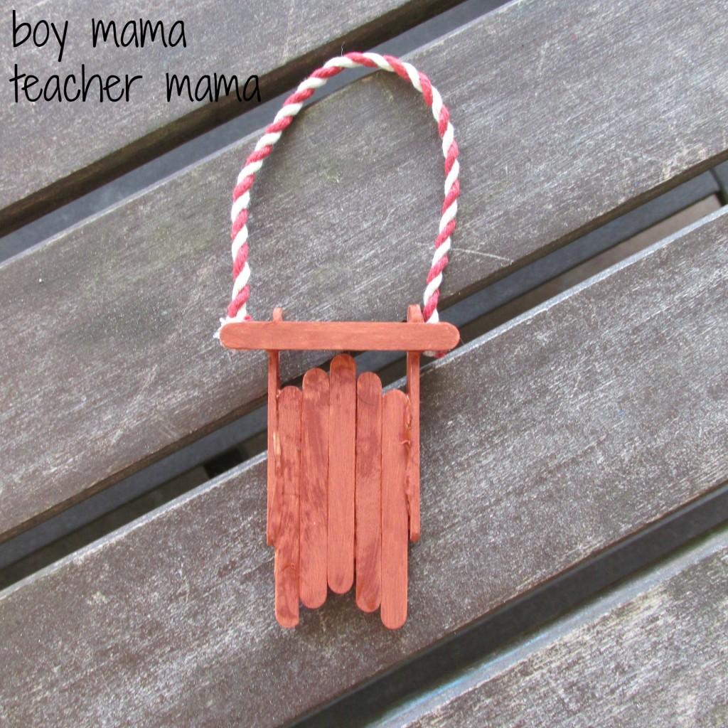 boy mama teacher mama  popsicle stick sleds 6