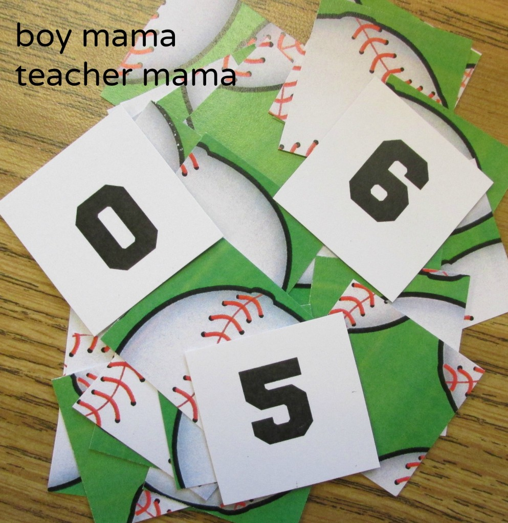 Boy Mama Teacher Mama  +10 Baseball Math 8