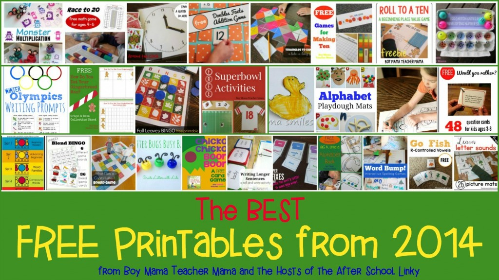 Boy Mama Teacher Mama  The Best Free Printables of 2014
