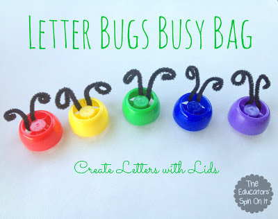Letter Bugs Busy Bags from The Educators' Spin On It