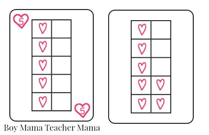 Boy Mama Teacher Mama  FREE Valentines Ten Frame Cards