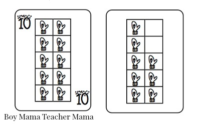 Boy Mama Teacher Mama  FREE Winter Ten Frame Playing Cards