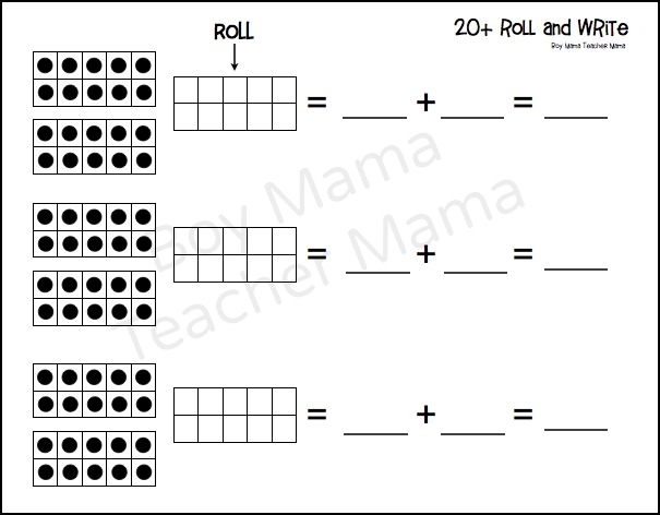 Boy Mama Teacher Mama  FREE Counting on from 10 Printables 2