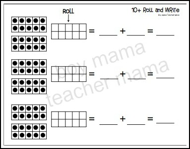 Boy Mama Teacher Mama  FREE Counting on from 10 Printables
